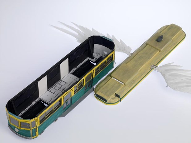 Flying Tram Model (Roof Off)