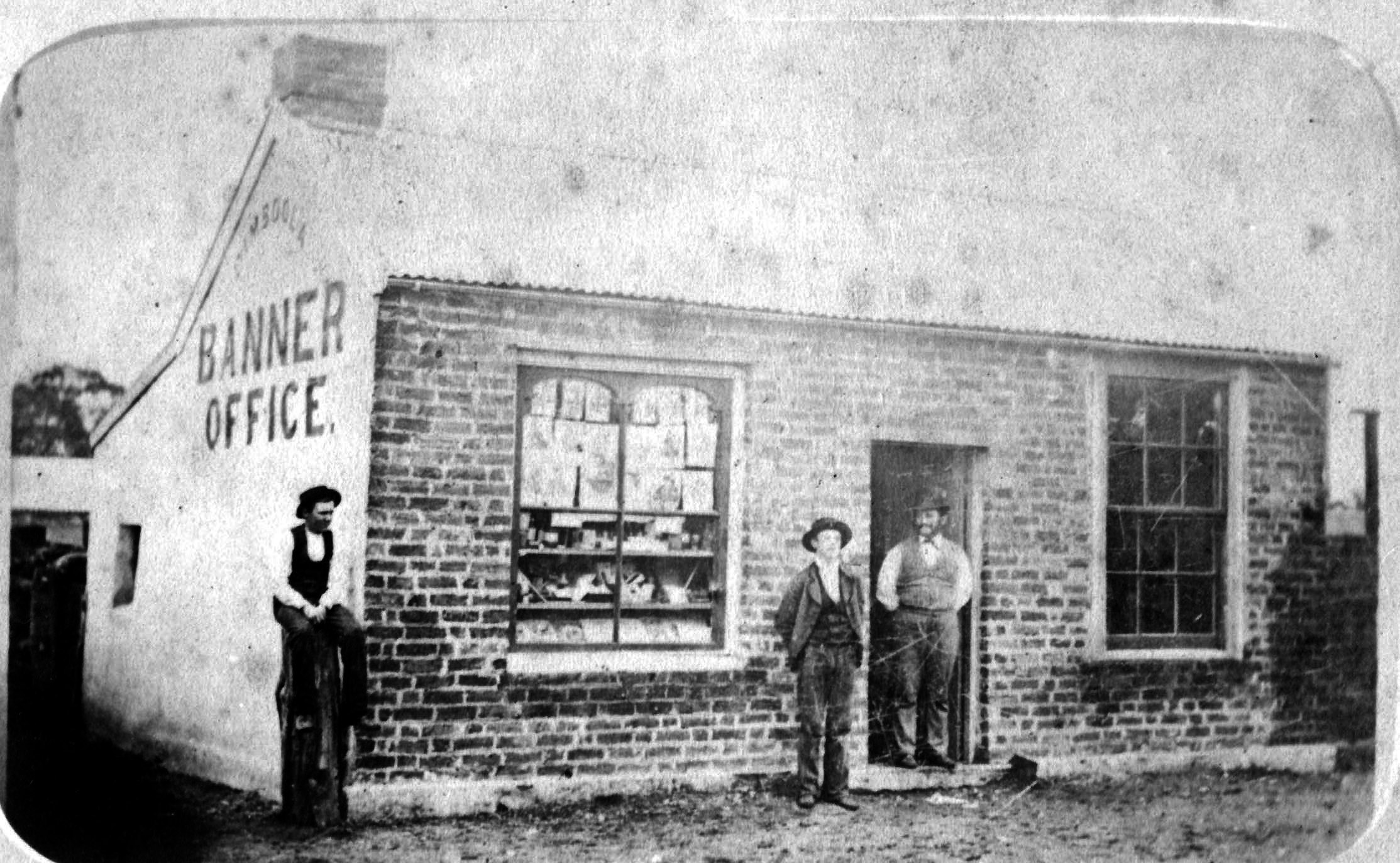 the original office of the dimboola banner newspaper and printer  c 1880